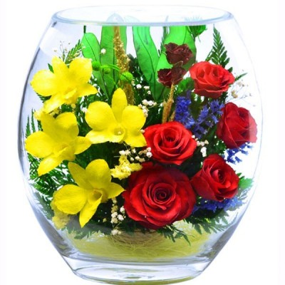 23_05 Цветы в стекле ~ вакуум*~