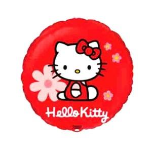 88_27 Шар Hello Kitty в цветочках