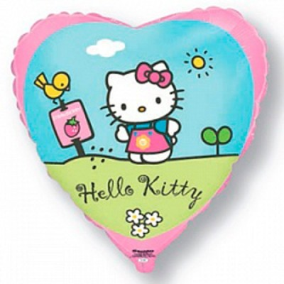 88_94 Шар Hello Kitty в саду