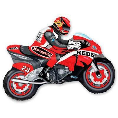 88_16 Шар Мотоциклист красный