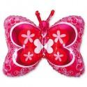 88_34 Шар Бабочка розовая