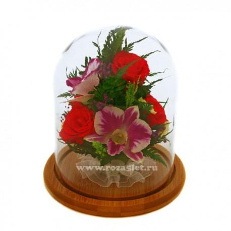 Цветы в стекле, Микс