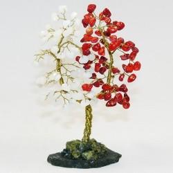 Дерево любви - Коралл, агат