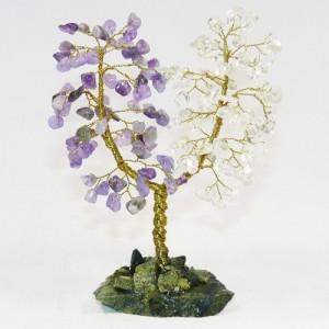 Дерево Любви - Аметист и Розовый кварц