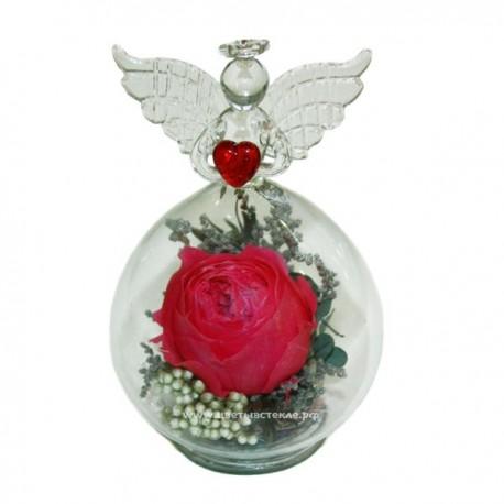 99_44 цветы в стекле, ангел
