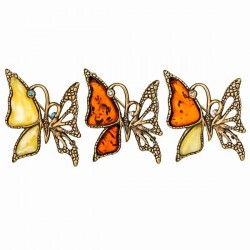Броши бабочка ажурная