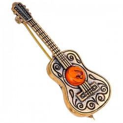 Броши гитара испанца