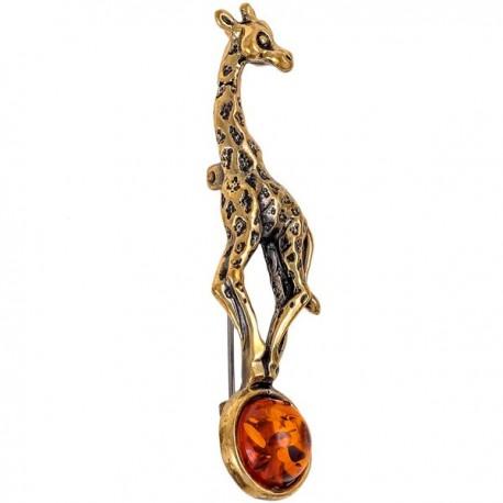 Броши Жираф на шаре