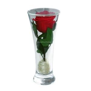 99_71 Роза в стеклянной колбе, вакуум*