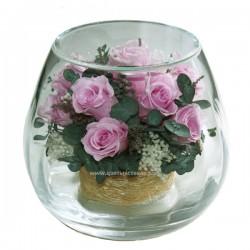 99_16 Кустовая роза, Эвкалипт