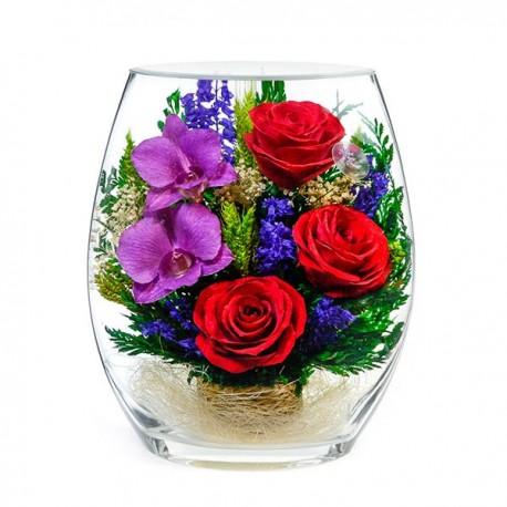 25_07 Цветы в стекле ~ вакуум*~