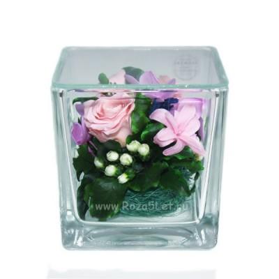 цветы в стекле, кубик