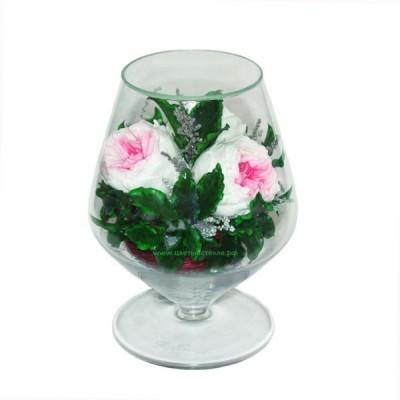 99_03 Розы+гардения, в Итальянском бокале