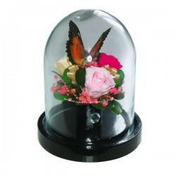 99_26 Бабочка на розах в колбе