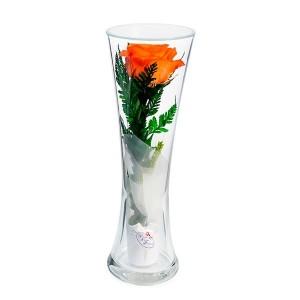 12_30 роза в колбе, цвет на выбор