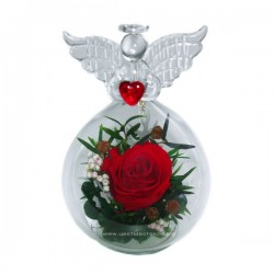 99_52 роза в стекле, ангел