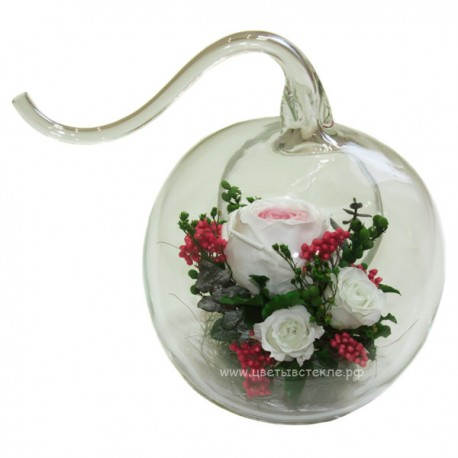 99_07 натуральный пион в стекле, вакуум*