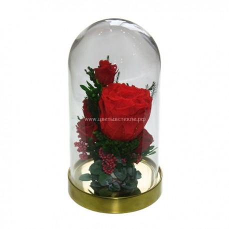 цветы в стекле новогодняя композиция