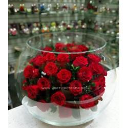 101 роза в стекле в стекле, вакуум*
