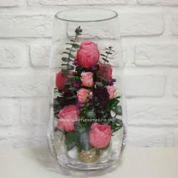 99_78 Пионы, Розы, зелень