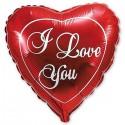 88_10 шар красное сердце I LOVE YOU