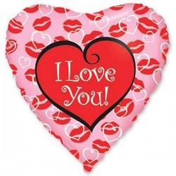 88_12 Шар сердце Поцелуи