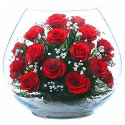 Цветы в стекле вакуум