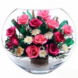 Живые цветы в стекле купить в самаре купить саженец плетистой розы глориана в москве