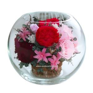 99_18 Пионы, розы, наринэ, эвкалипт