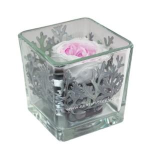 99_82 Пион в стекле, кубик