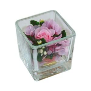 99_81 Роза в стекле, кубик