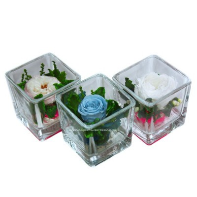 99_80 цветы в стекле, кубик