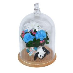 99_25 цветы в стекле с игрушкой